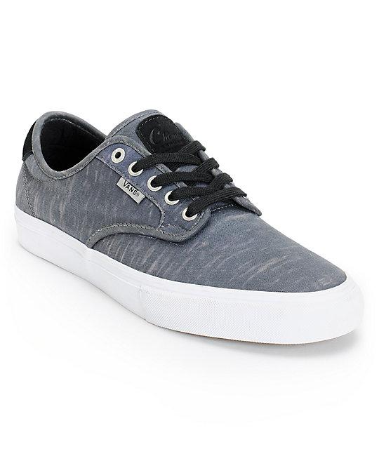 Vans Chima Pro Black Static Canvas Skate Shoe