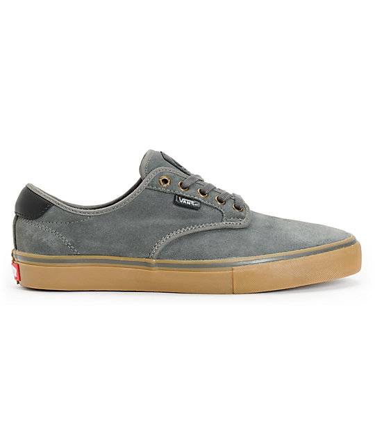 Vans Chima Pro Charcoal & Gum Suede Skate Shoes