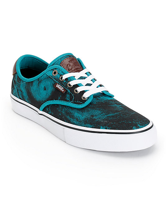 Vans Chima Pro Cyclone Teal Skate Shoes (Mens)