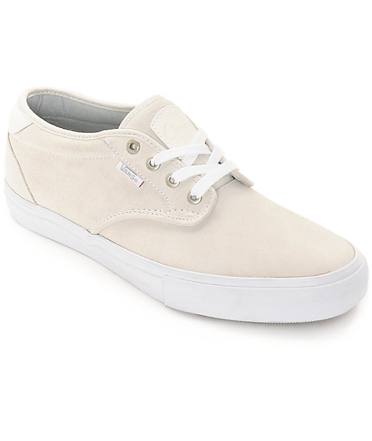 Vans Chima Pro Estate White Skate Shoes (Mens)