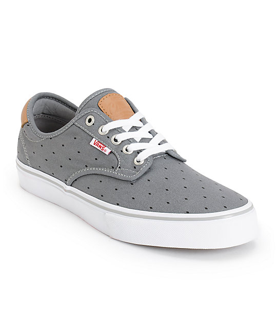 Vans Chima Pro Grey Diamonds Skate Shoes (Mens)