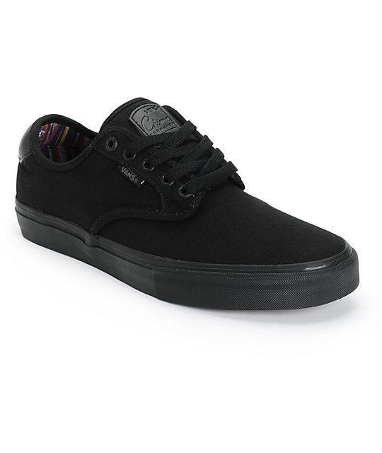 Vans Chima Pro Guate Black Skate Shoes (Mens)