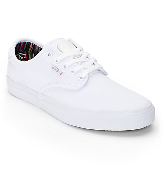 Vans Chima Pro Guate White Skate Shoes Mens