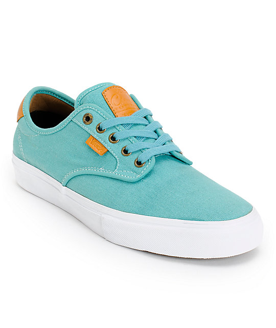 Vans Chima Pro Teal Canvas Skate Shoes (Mens)
