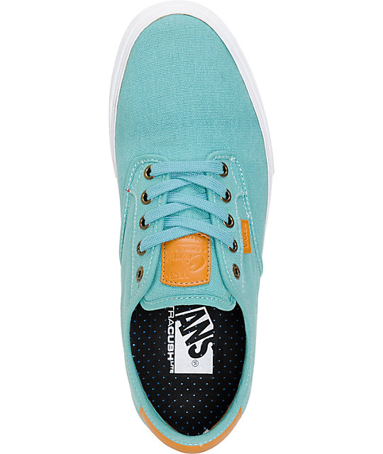 Vans Chima Pro Teal Canvas Skate Shoes