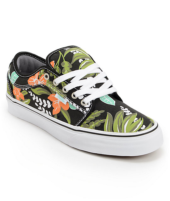 Vans Chukka Low Aloha Black & Mint Canvas Skate Shoes