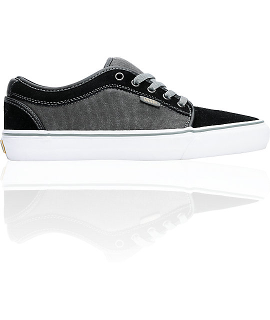 Vans Chukka Low Black, Grey & White Skate Shoes (Mens)