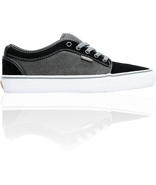 Vans Chukka Low Black, Grey & White Skate Shoes
