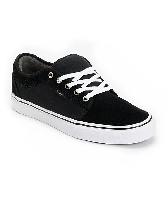 Vans Chukka Low Black, Pewter & White Skate Shoes (Mens)