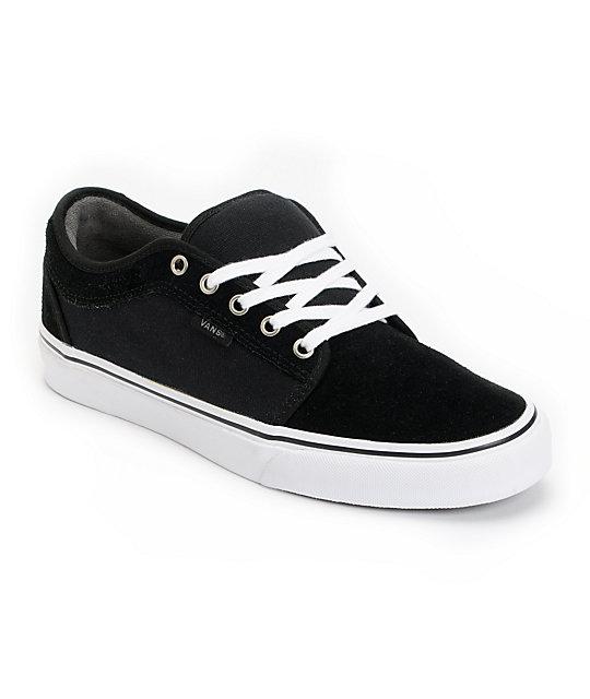 Vans Chukka Low Black, Pewter & White Skate Shoes