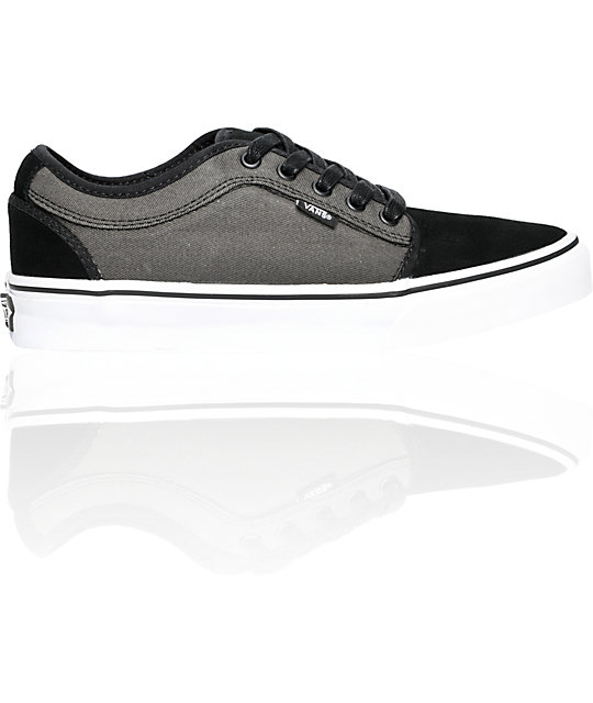 Vans Chukka Low Black & Charcoal Skate Shoes