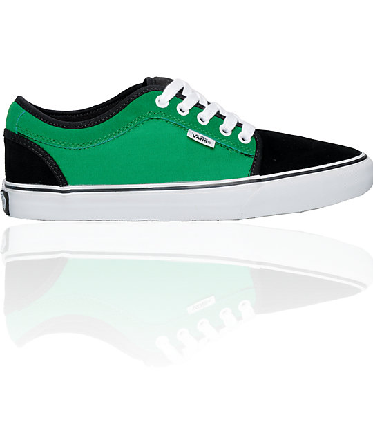 Vans Chukka Low Black & Green Skate Shoes (Mens)