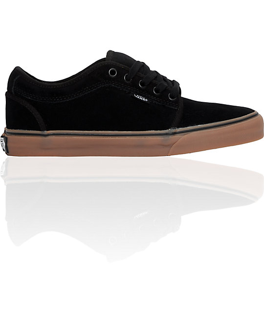 Vans Chukka Low Black & Gum Skate Shoes (Mens)
