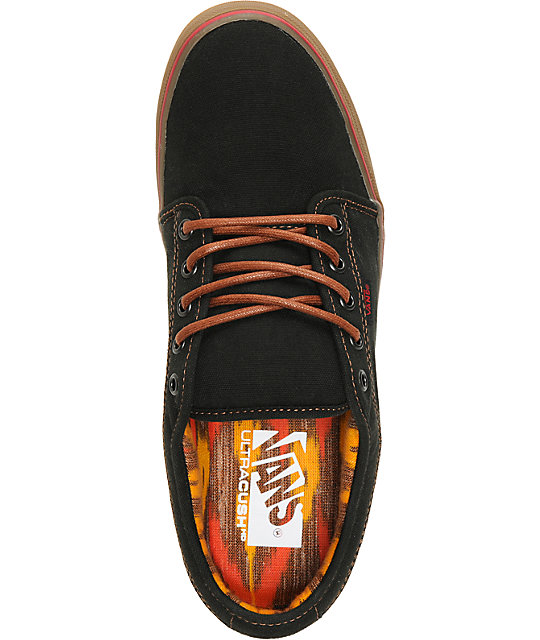 Vans Chukka Low Black & Gum Washed Canvas Skate Shoes