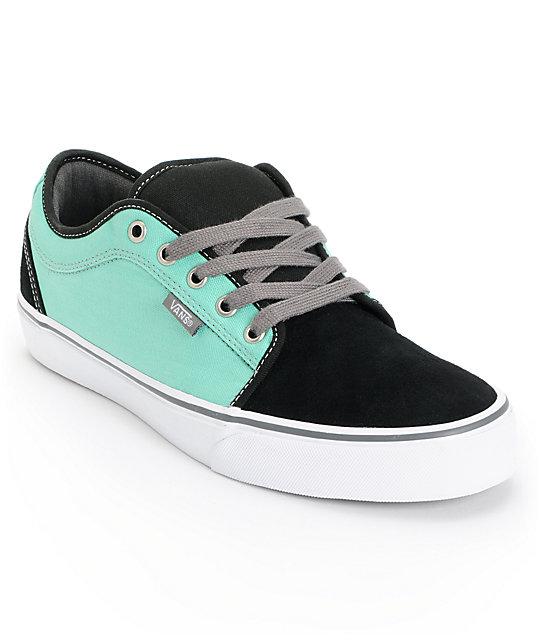 Vans Chukka Low Black & Mint Skate Shoes (Mens)