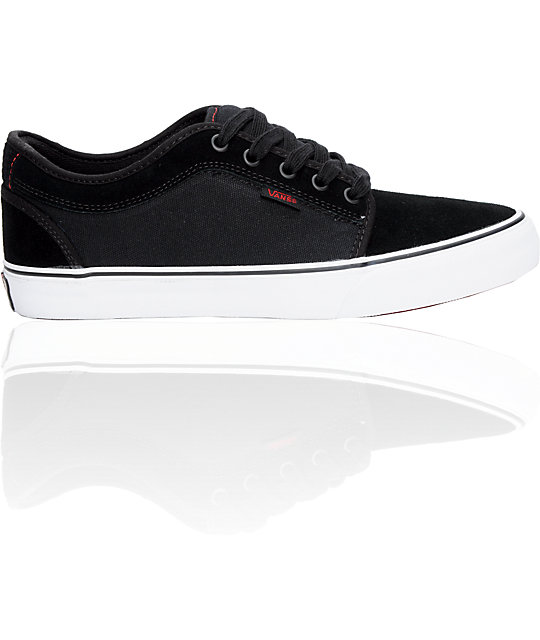 Vans Chukka Low Black & Red Suede Skate Shoes