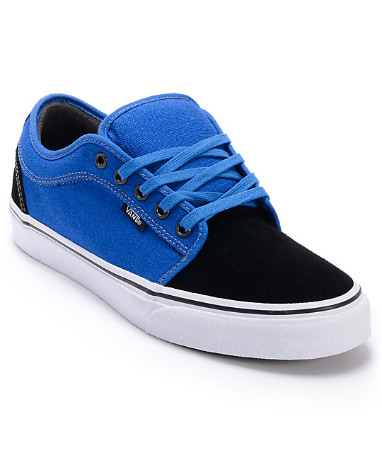 Vans Chukka Low Black & Royal Skate Shoes