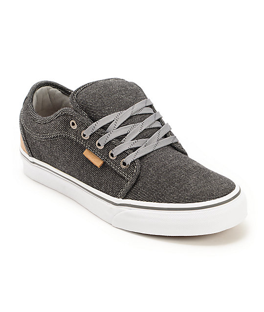 Vans Chukka Low Black & Tan Tweed Skate Shoes