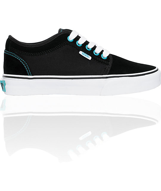 Vans Chukka Low Black & Turquoise Shoes (Womens)
