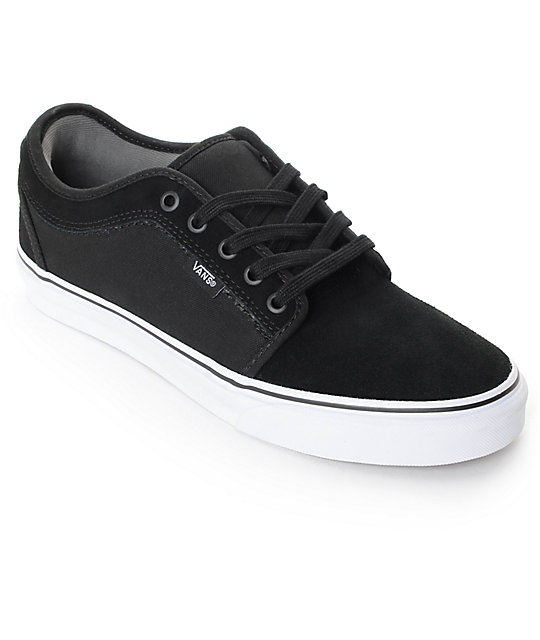 Vans Chukka Low Black & White Skate Shoes (Mens)
