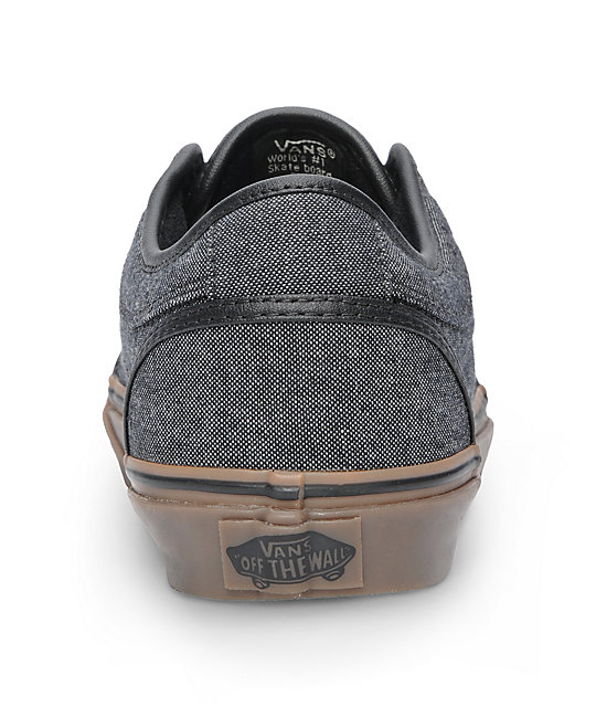 Vans Chukka Low Black Canvas & Gum Skate Shoes