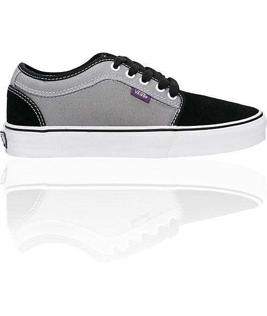 Vans Chukka Low Black Grey & Purple Shoes (Womens)
