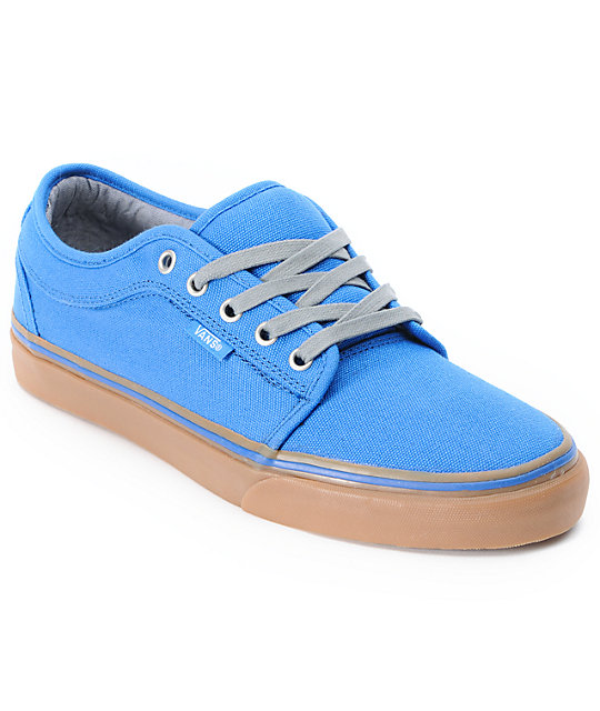 vans chukka low blue canvas gum skate shoes mens at
