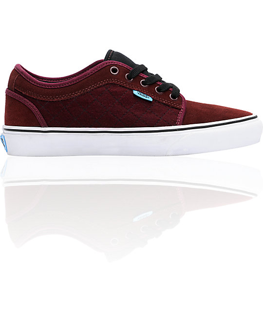 Vans Chukka Low Burgundy Skate Shoes (Mens)
