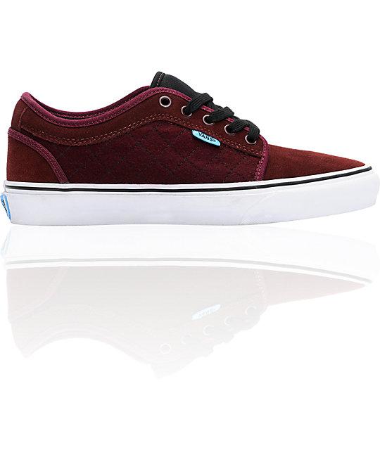 Vans Chukka Low Burgundy Skate Shoes (Mens)