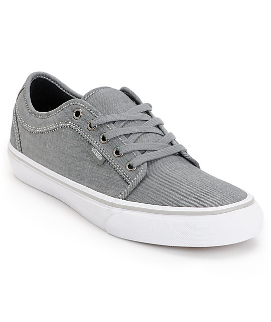 Vans Chukka Low Chambray Grey Skate Shoes (Mens)