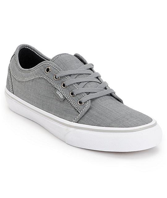 Vans Chukka Low Chambray Grey Skate Shoes