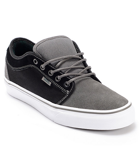 Vans Chukka Low Charcoal & Black Skate Shoes (Mens)