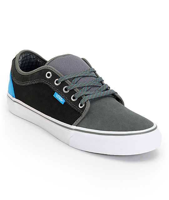 Vans Chukka Low Charcoal & Sky Blue Canvas Skate Shoes (Mens)
