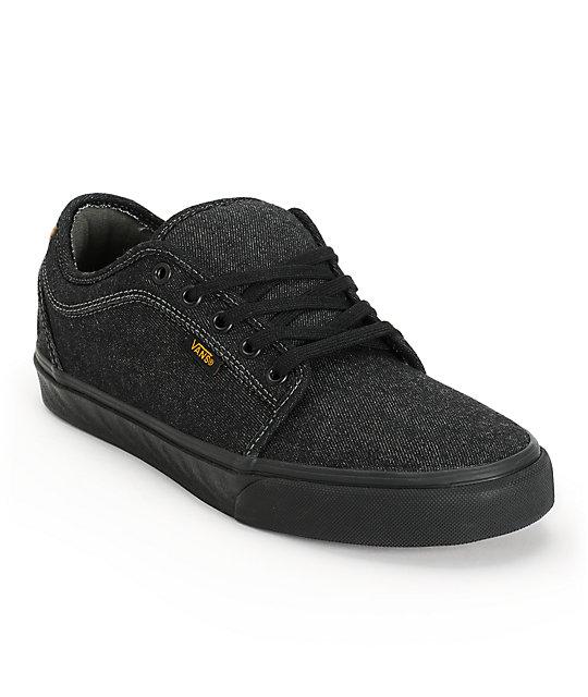 Vans Chukka Low Cork Black Denim Skate Shoes