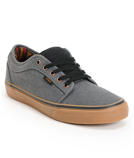 Vans Chukka Low Dark Grey & Gum Mexi Blanket Skate Shoes (Mens)