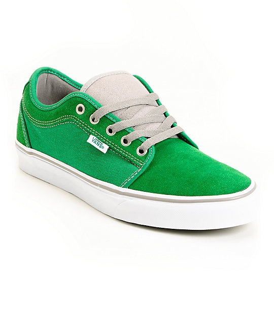 Vans Chukka Low Green & White Skate Shoes (Mens)