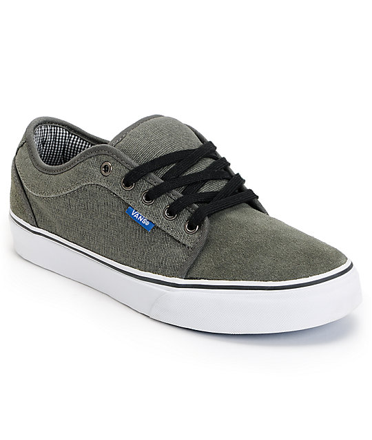 Vans Chukka Low Grey, Black, & Royal Skate Shoes (Mens)