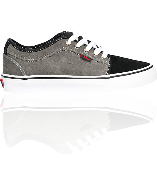 Vans Chukka Low Grey & Black Suede Skate Shoes