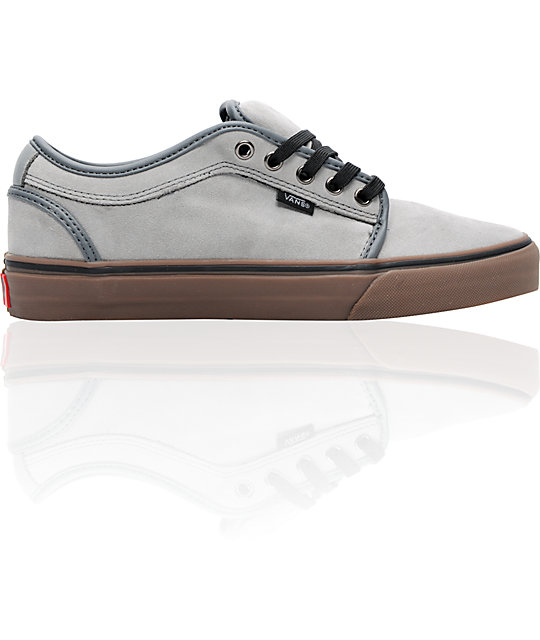 Vans Chukka Low Grey & Gum Pfanner Skate Shoes (Mens)