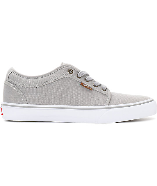 Vans Chukka Low Grey & White Canvas Skate Shoes