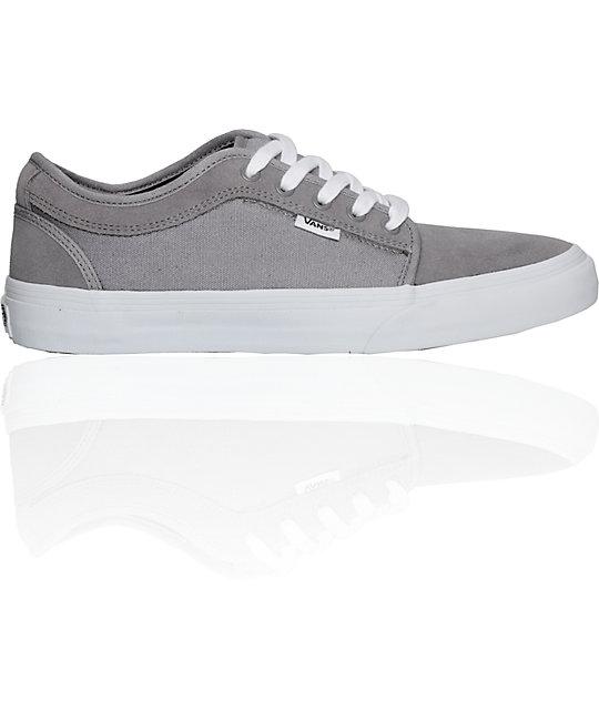 Vans Chukka Low Grey & White Skate Shoes (Mens)