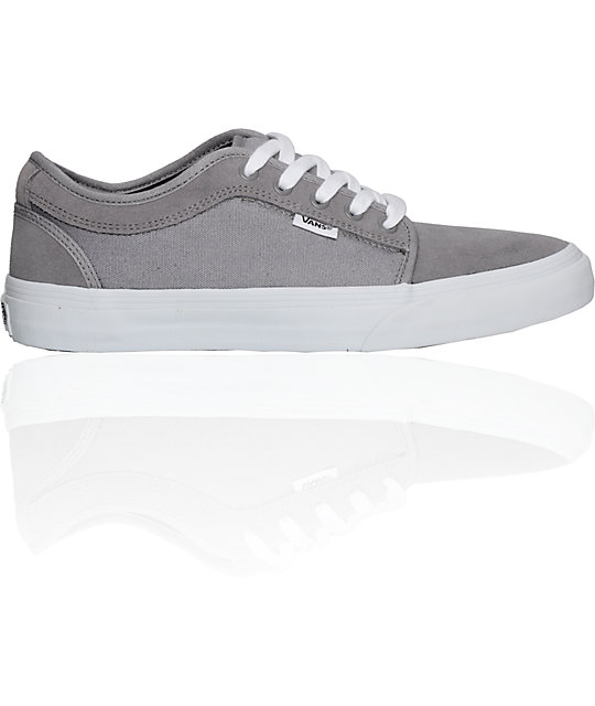 Vans Chukka Low Grey & White Skate Shoes