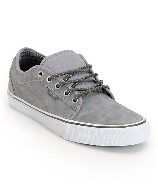 Vans Chukka Low Hiker Grey & Mint Suede Skate Shoes