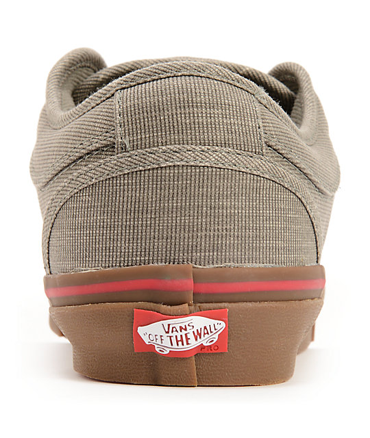 Vans Chukka Low Linen Grey & Gum Skate Shoes