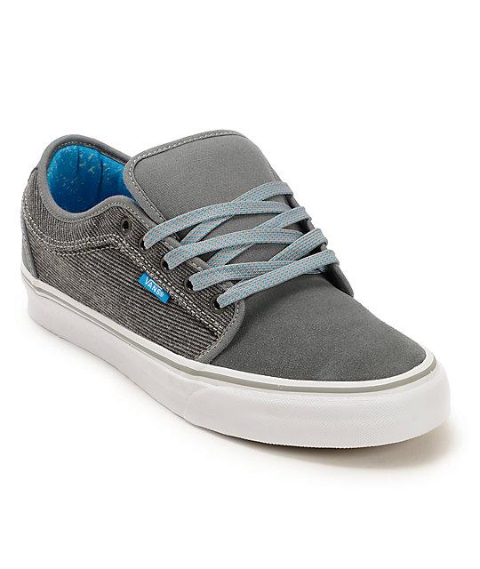 Vans Chukka Low Medium Grey & Deep Sky Skate Shoes (Mens)