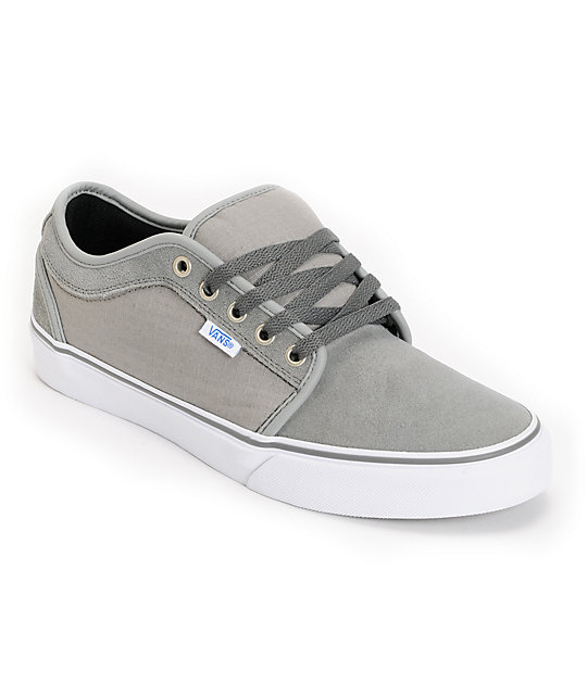 Vans Chukka Low Medium Grey & Ripstop Skate Shoes (Mens)