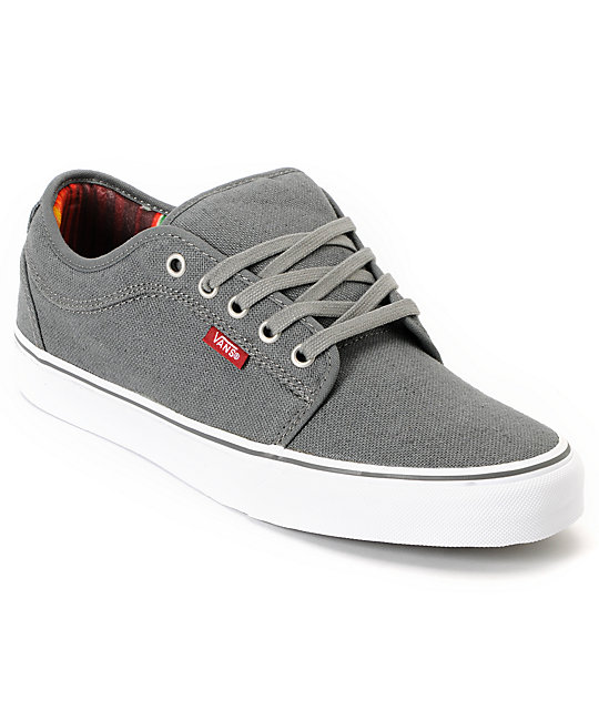 Vans Chukka Low Mexican Blanket Grey Canvas Skate Shoe at ...