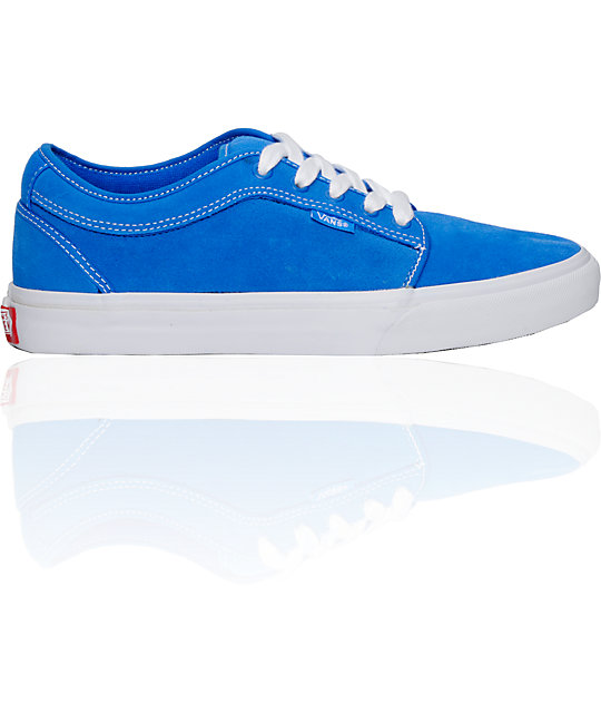 Vans Chukka Low Mo Blue Suede Skate Shoes (Mens)