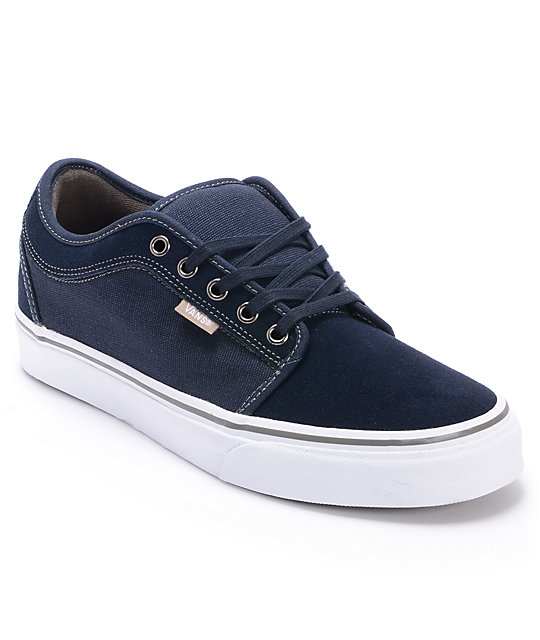 Vans Chukka Low Navy, White & Warm Grey Skate Shoes (Mens)