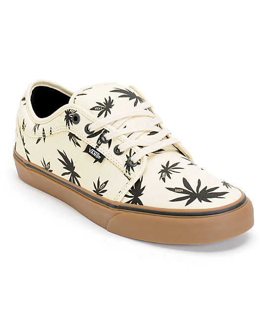 Vans Chukka Low Palms Natural, Black, & Gum Skate Shoes (Mens)